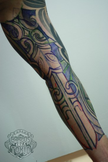 Drawing inside the arm