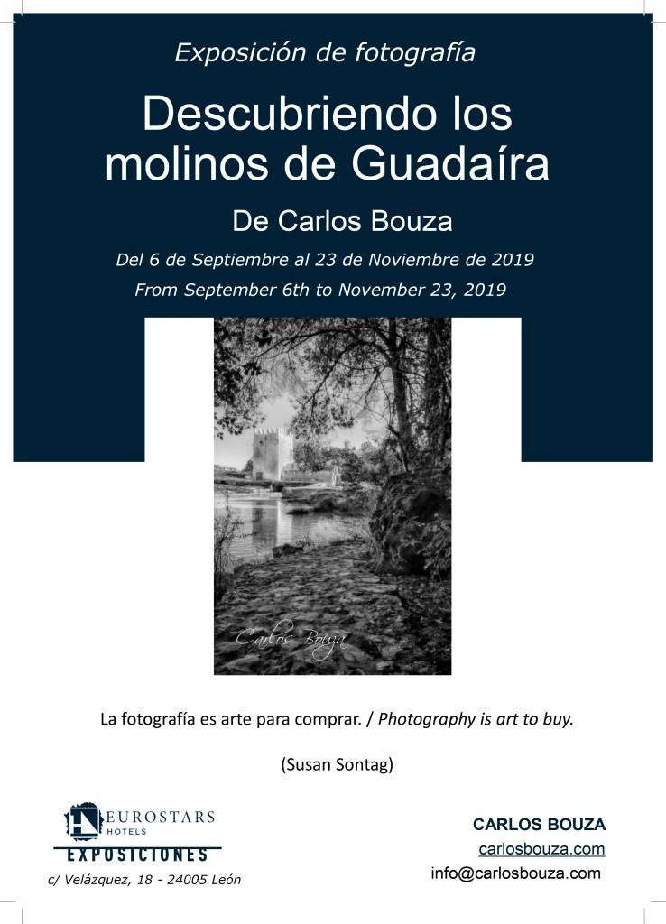 Cartel de la exposición de fotografía Descubriendo los molinos del Guadaíra en León