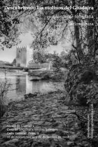 Cartel de la exposición de fotografía Descubriendo los molinos del Guadaíra en Alcalá de Guadaíra