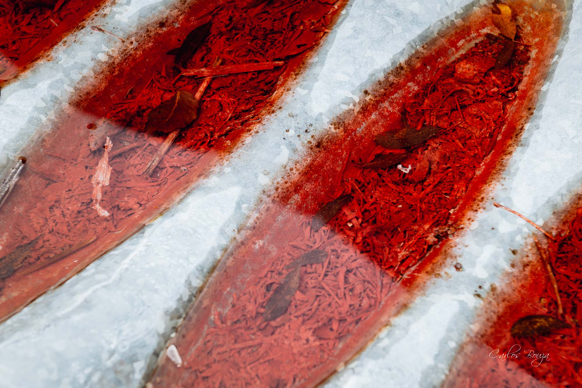 Hielo rojo