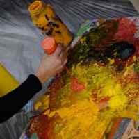Mezclando pintura