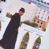 """Portada del libro """"Chefchauen. La ciudad azul de Marruecos"""" de Carlos Bouza presentado en el hotel Eurostars de Toledo."""
