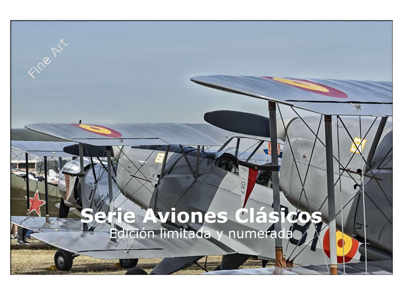 Serie Aviones Clásicos en edición limitada y numerada impresas en calidad Fine Art