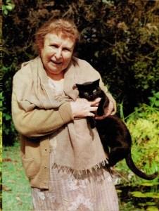 Agustina com gato