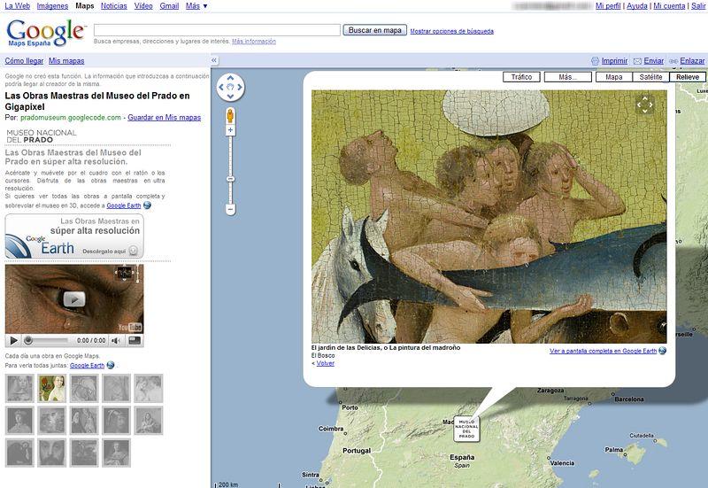 """Detalle de """"El Jardin de las Delicias"""" en Google Maps."""