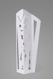 Escultura en papel No 4. 91 cm x 36 cm x 25 cm