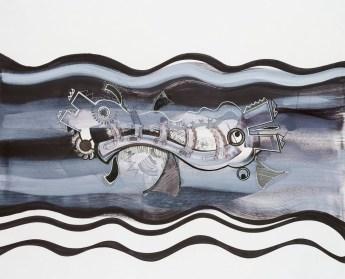S/T. Tinta, marcador y corrector sobre papel. 60 cm. x 75 cm. 2013