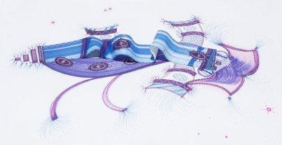 Tinta, marcador , corrector y papel sobre papel. 29 cm. x 47 cm. 2014
