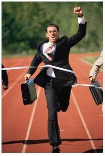 hombre corriendo exito