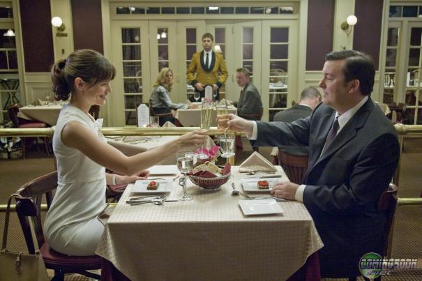 Jennifer Garner and Ricky Gervais toast a job well done.