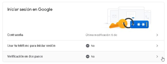 Inicio de sesión en Gmail
