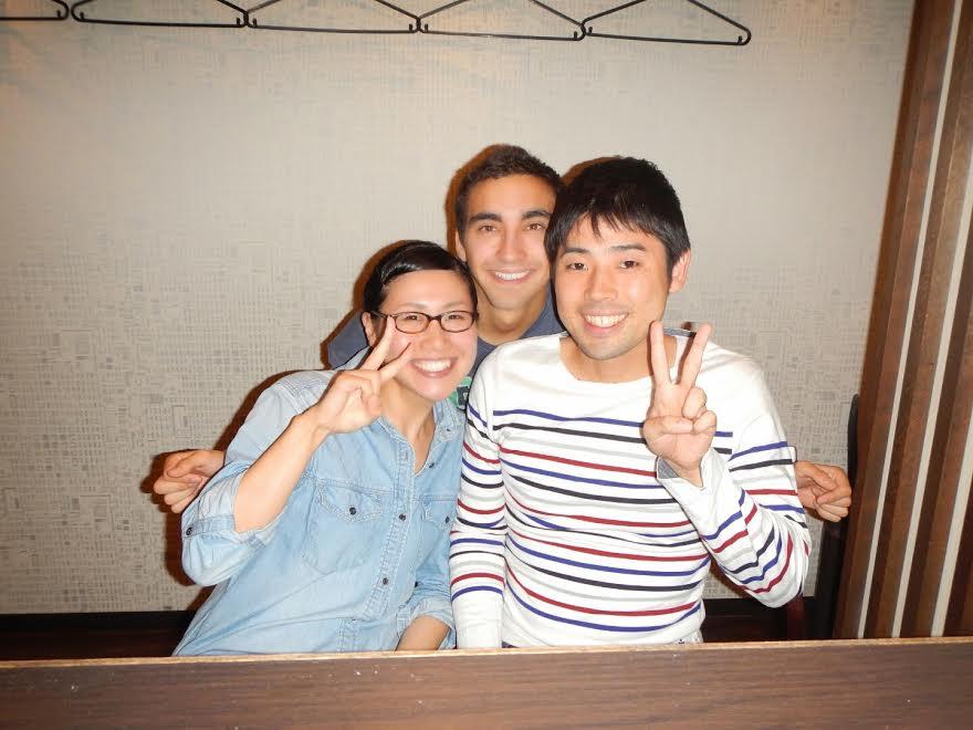 Cenando en Kioto con japoneses