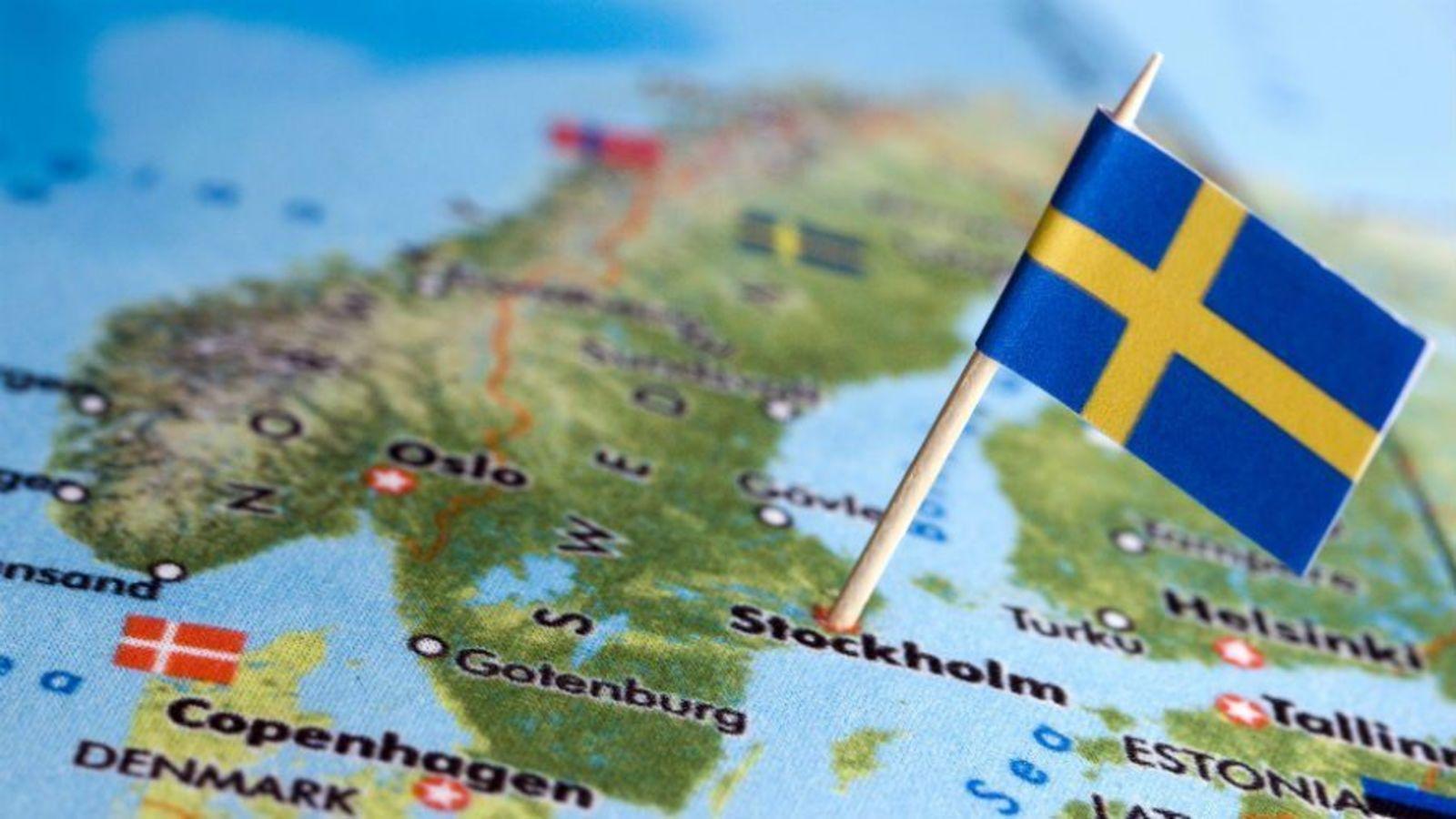 Resultat d'imatges de situació geogràfica Suècia