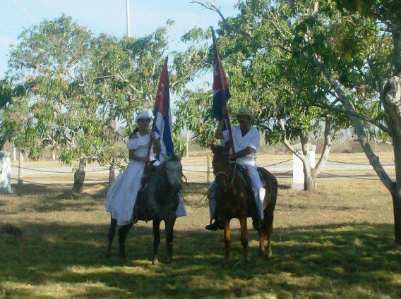 La patriótica presencia campesinaen la celebración del 137 aniversario de la Protesta de Baraguá