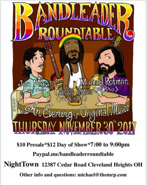 Promo for Carlos Roundtable at Nighttown