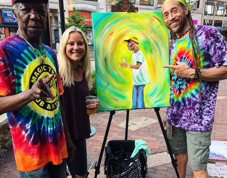 New this Summer – Live Painting by Kali Gibbons!
