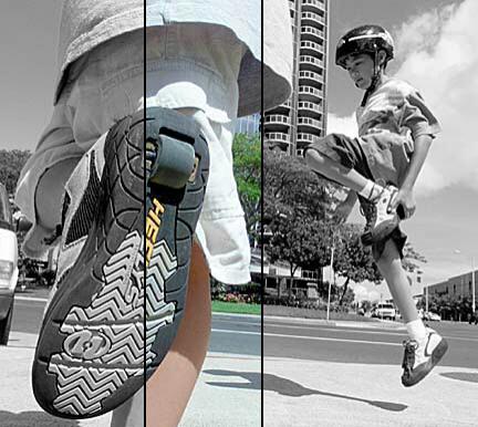 Peligros de las zapatillas con ruedas