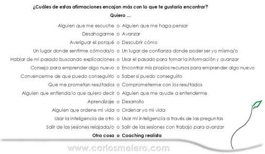 Qué es qué no es coaching realista