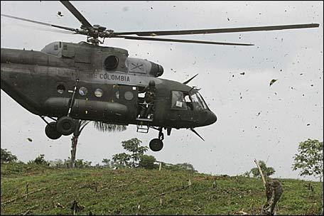 FARC TIROTEÓ HELICÓPTERO DEL EJERCITO