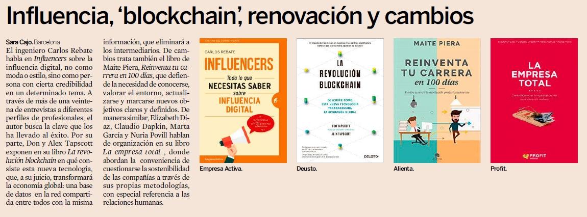 Influencers recomendado por Expansión, El Economista, La Vanguardia y Televisión Española