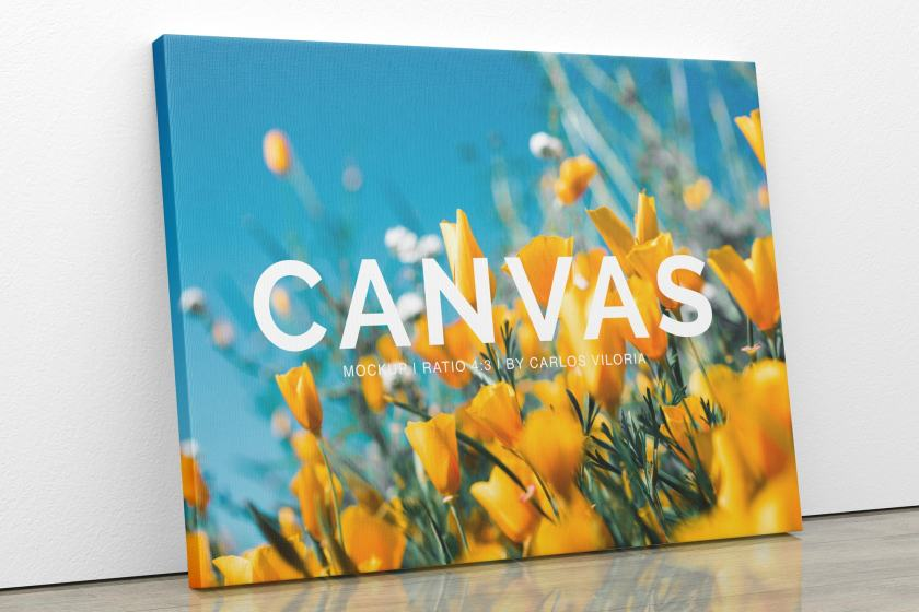Landscape Canvas Ratio 4:3 Mockup 01
