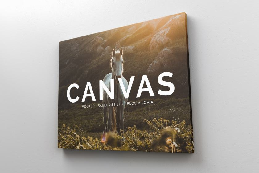 Landscape Canvas Ratio 5×4 Mockup 02