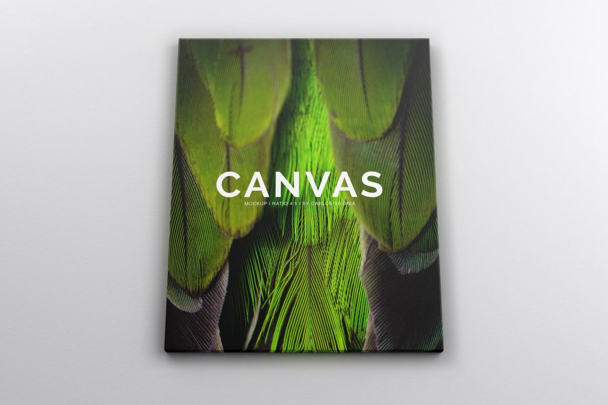 Landscape Canvas Ratio 4x5 Mockup 01