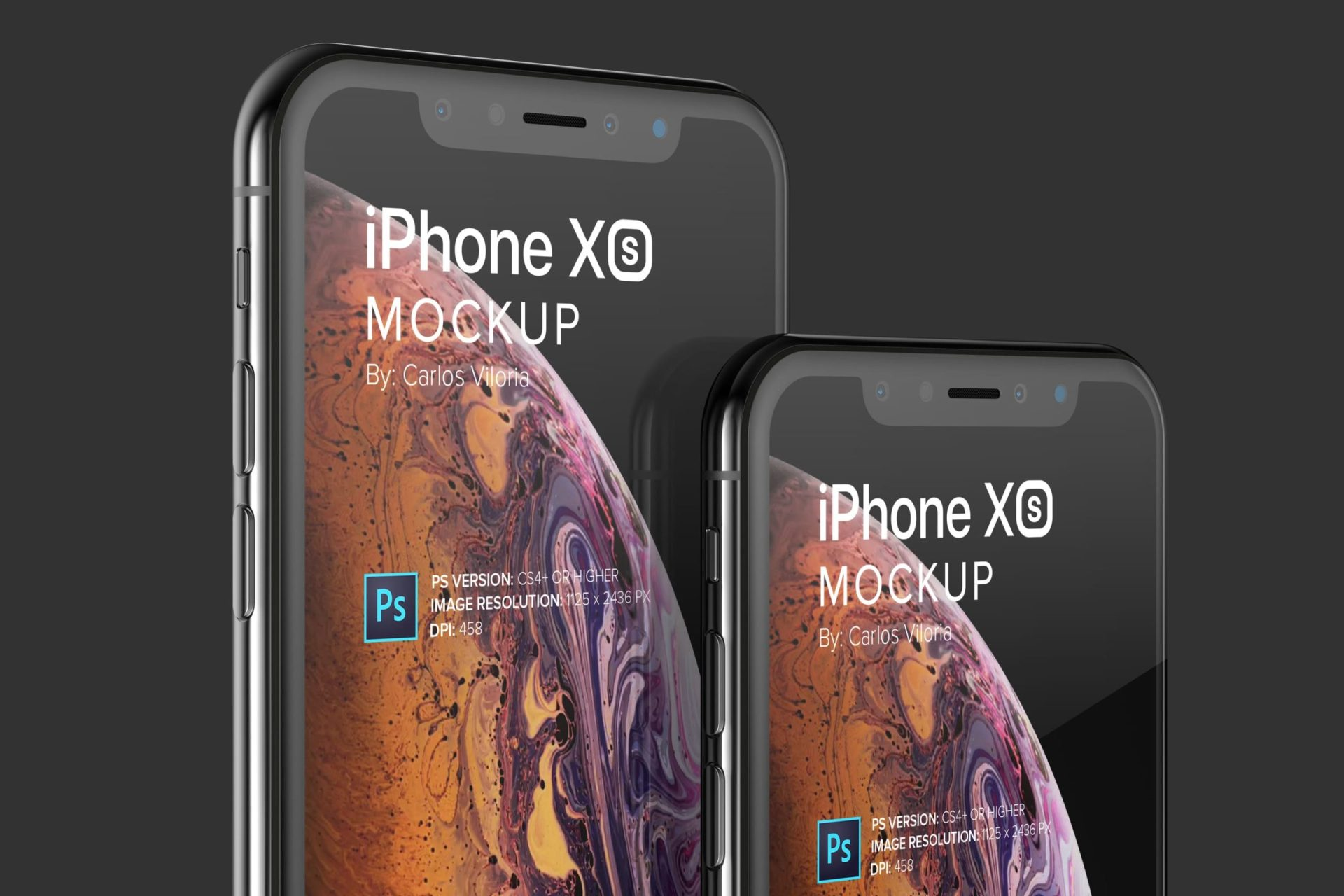 iPhone XS Mockup for Close Up Views