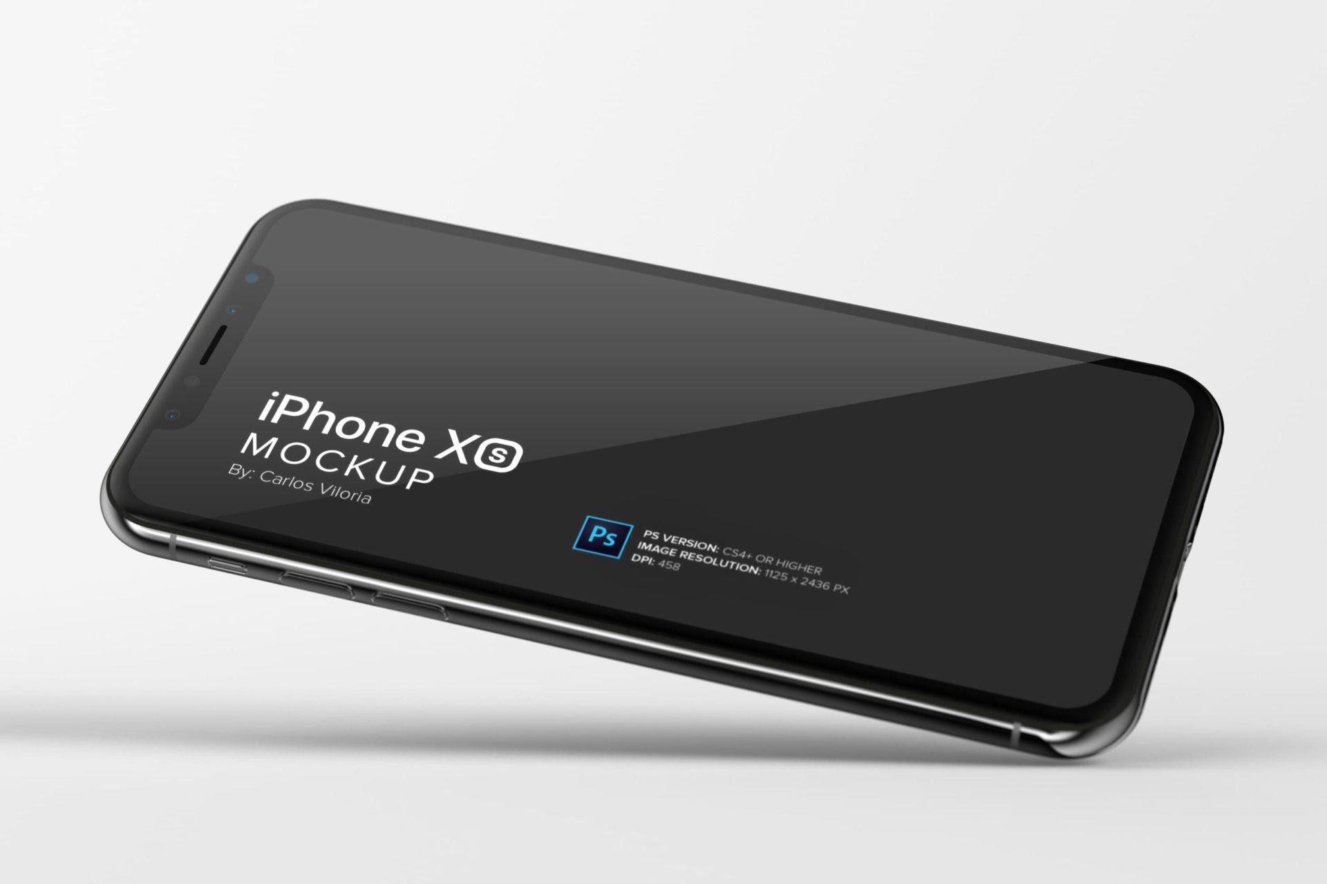 iPhone XS Mockup for Horizontal Design Views