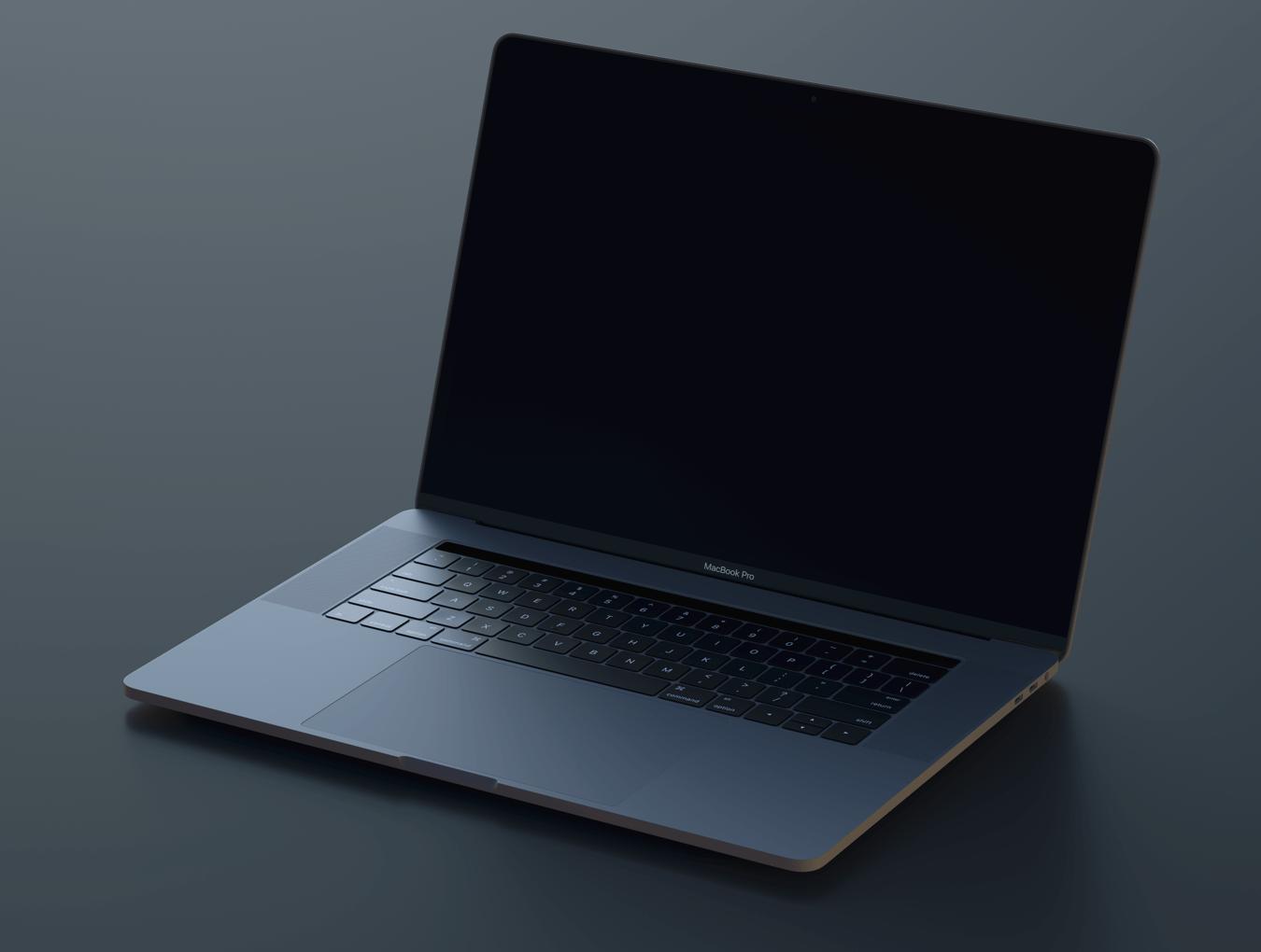 Macbook Pro mockup for Sketch & Photoshop 4K