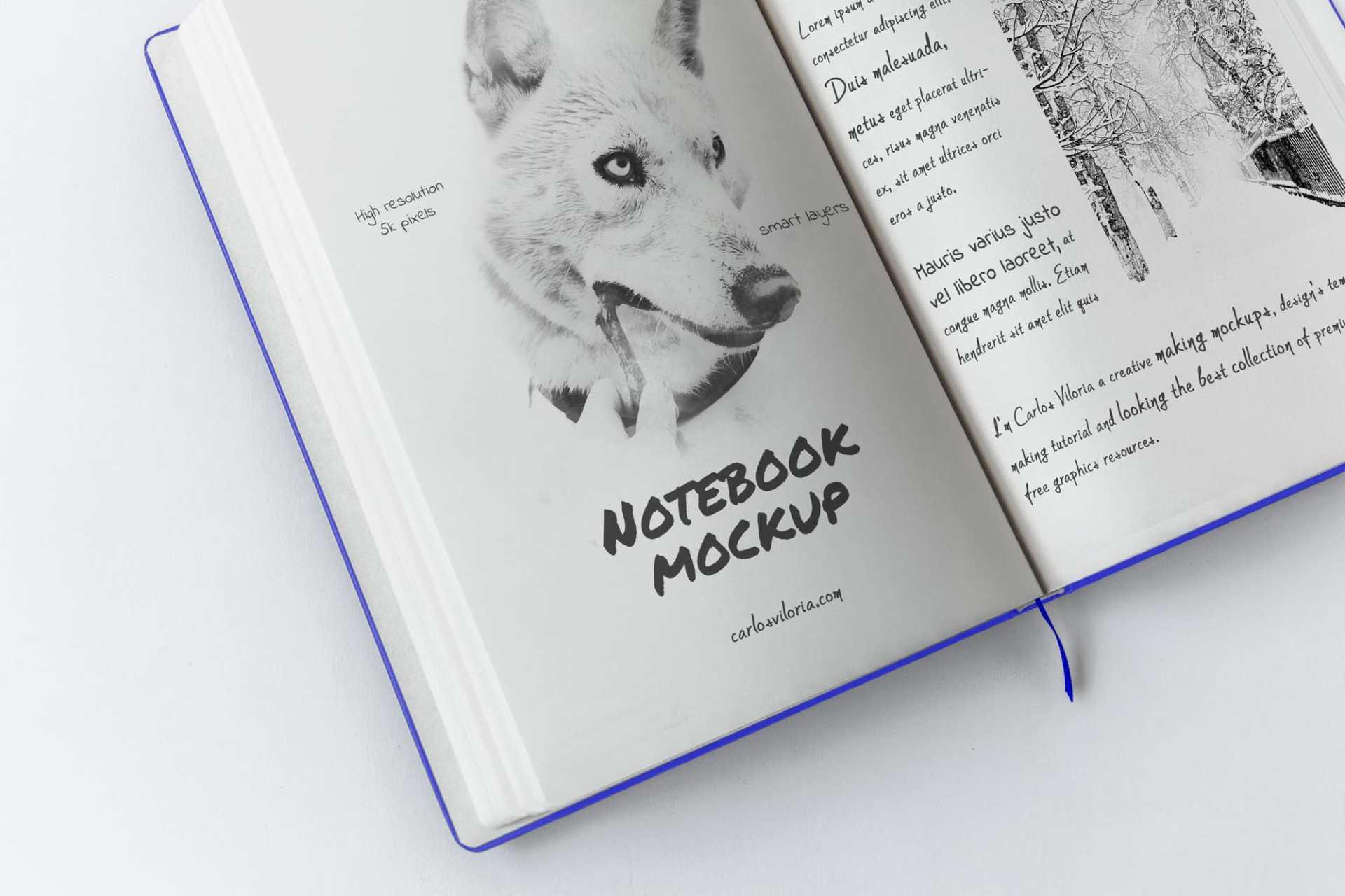 Free A5 Sketch Notebook Mockup