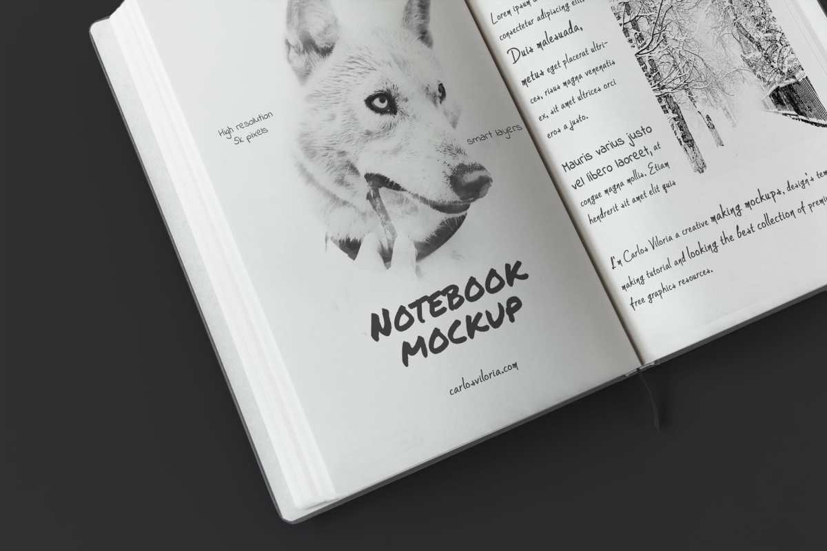 Free A5 Sketch Notebook Mockup