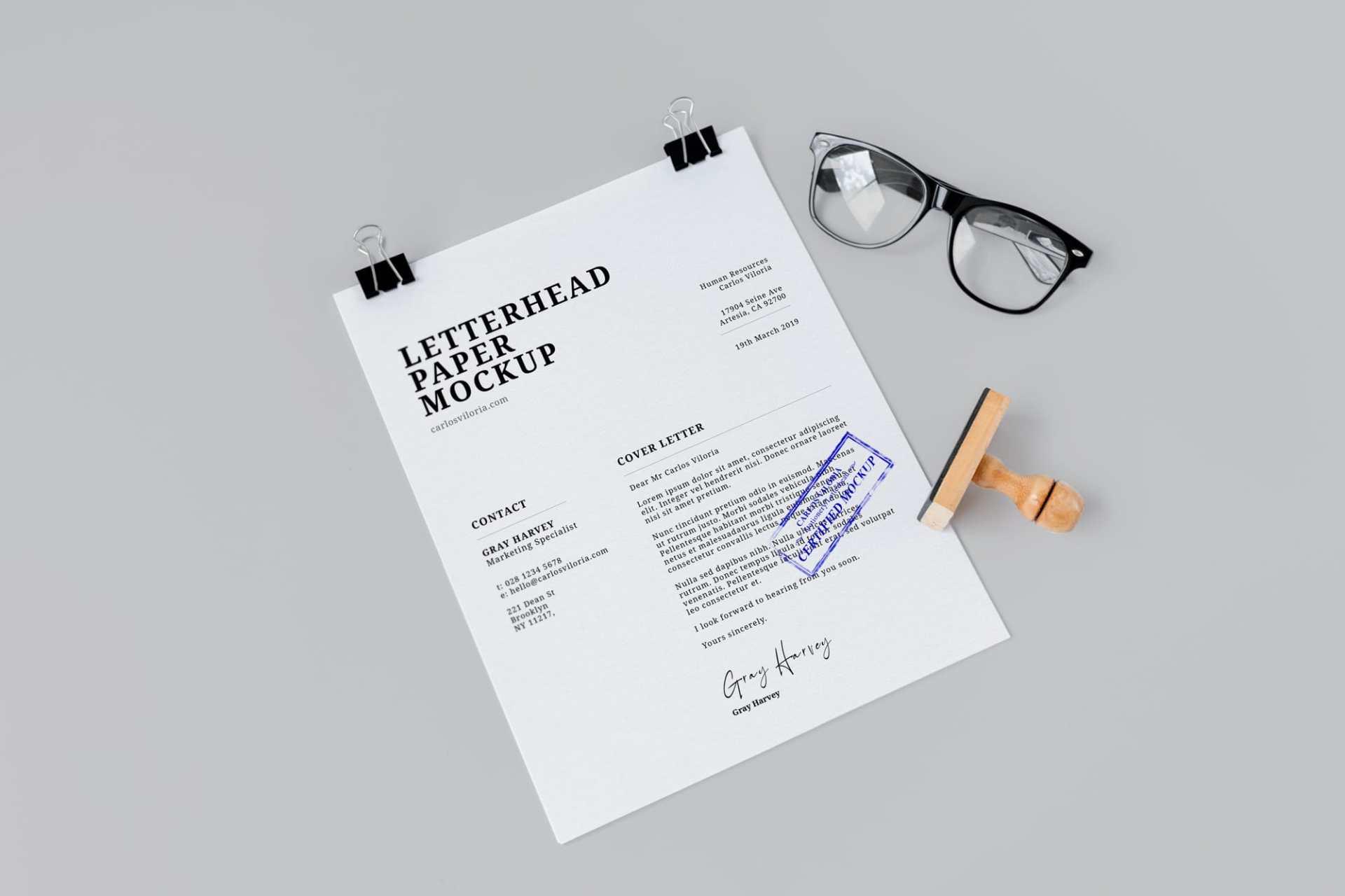 Free Letterhead Paper Mockup 02