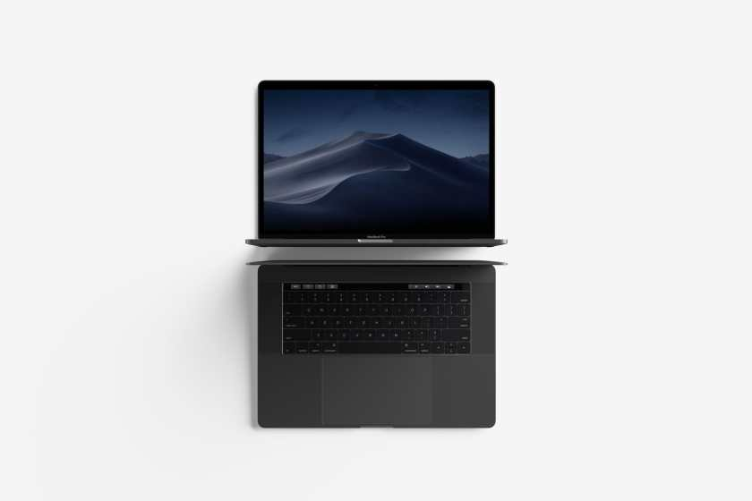 Free Modern Top View MacBook Pro Mockup