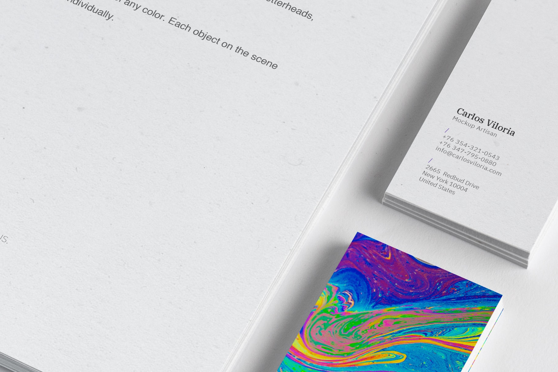 A4 and Business Cards Mockup 02