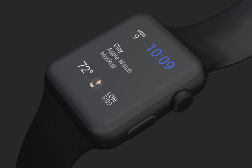 Clay Apple Watch Mockup 05