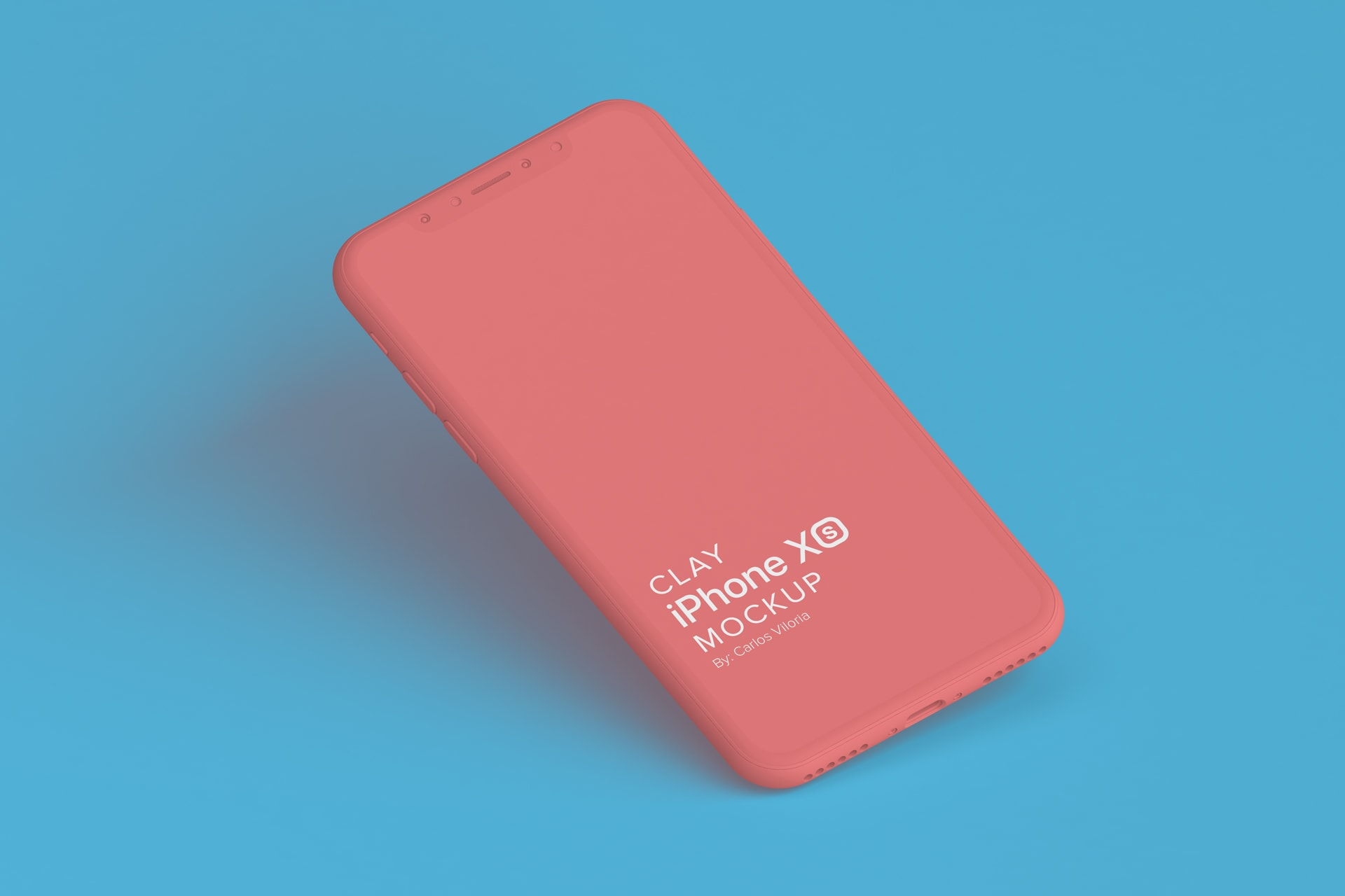 Clay iPhone XS Mockup for UI iOS Apps