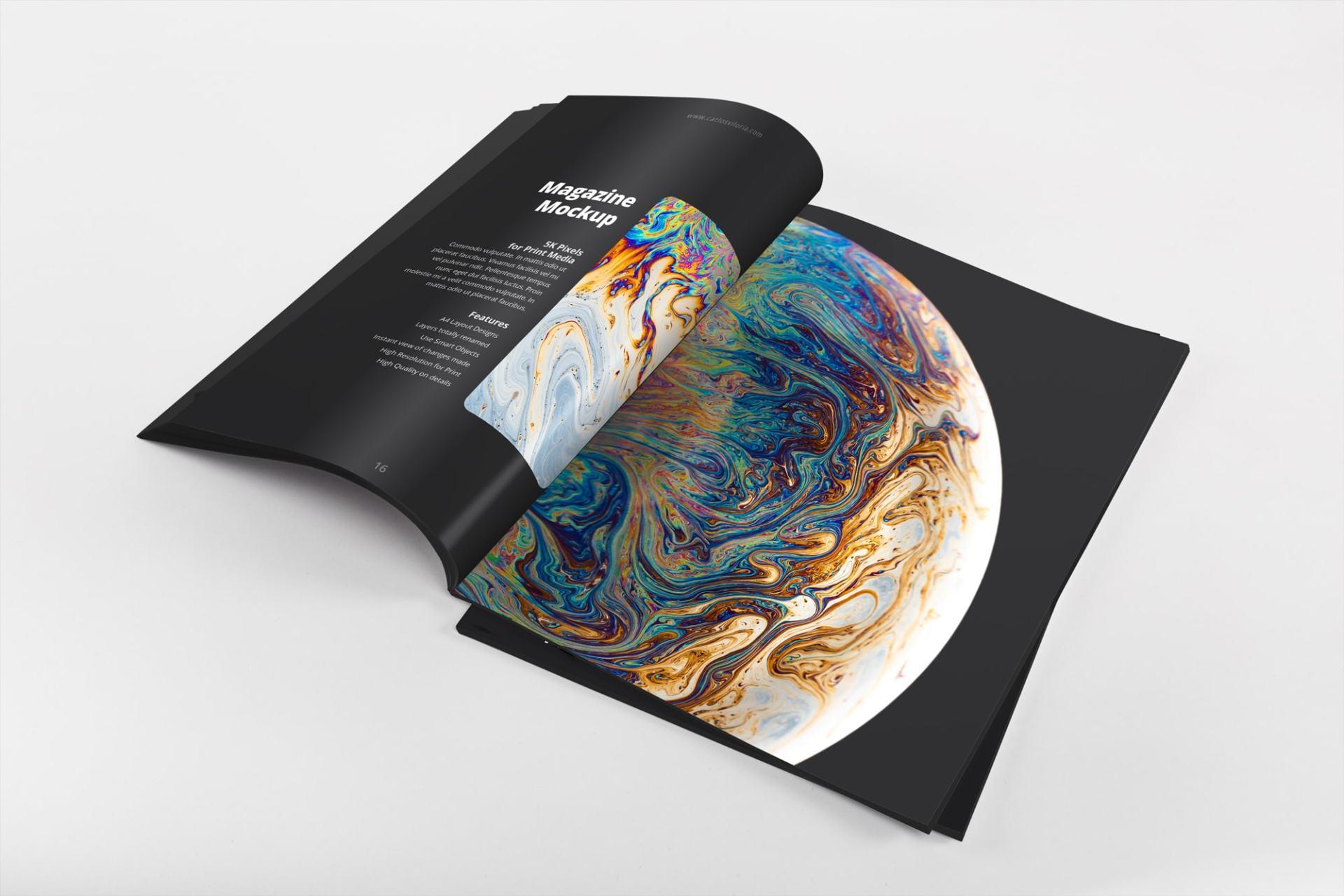 A4 Magazine Internal Pages Mockup