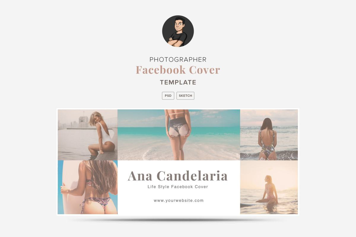 Collage Facebook Cover Template