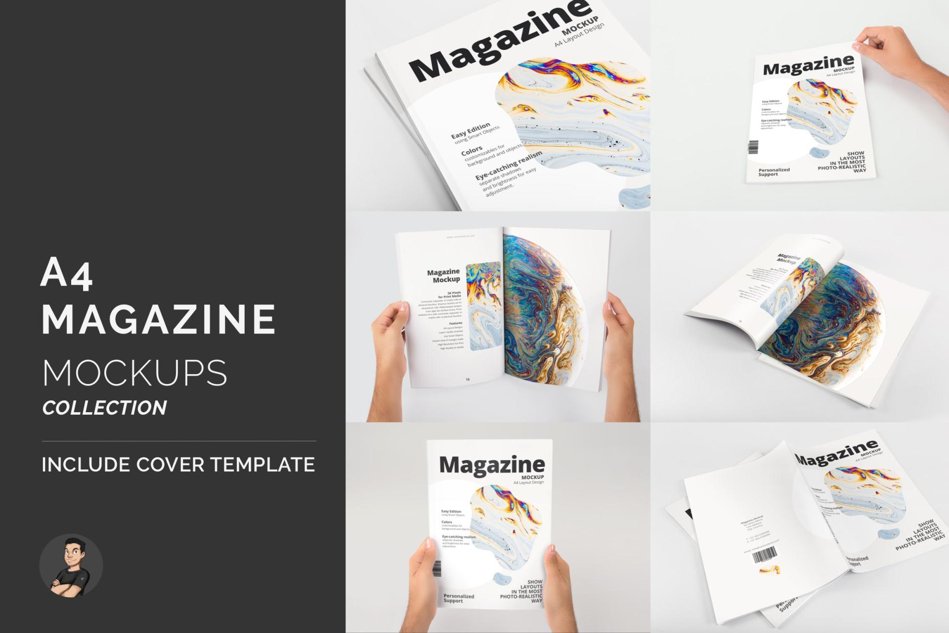 A4 Magazine Mockups Pack