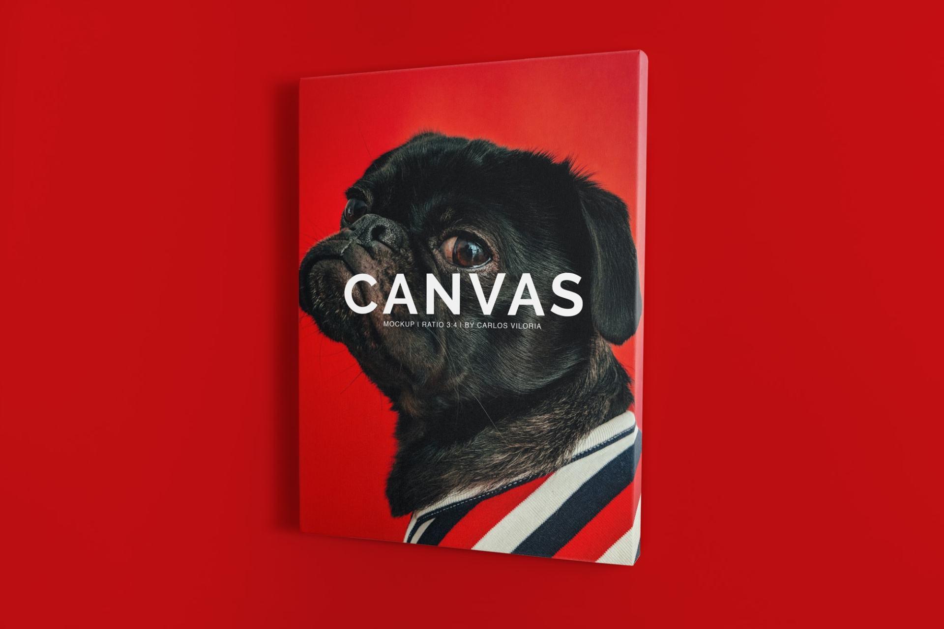 canvas mockups bundle - Portrait Canvas Ratio 3x4 Mockup 02