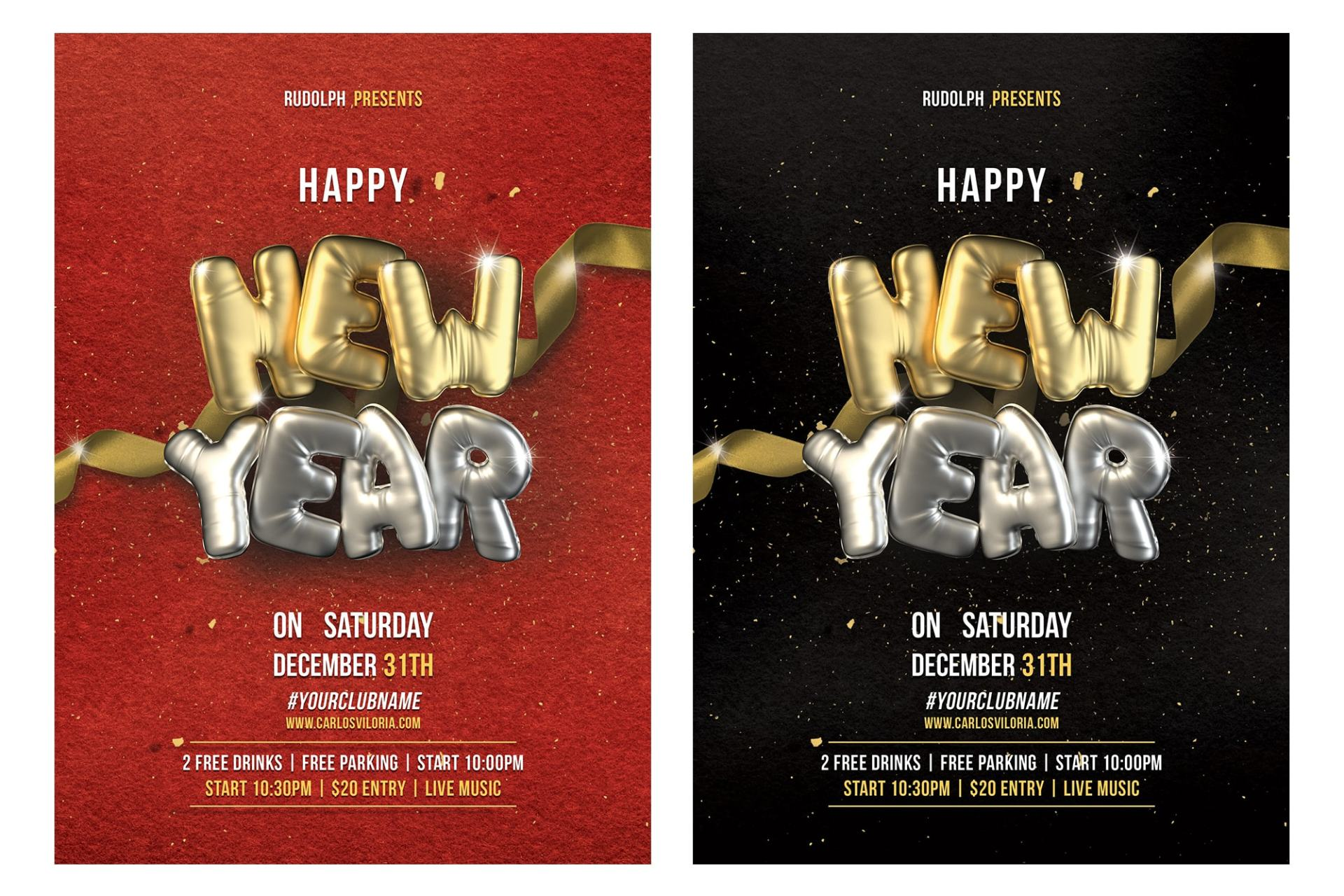 New Year Flyer - Poster Template