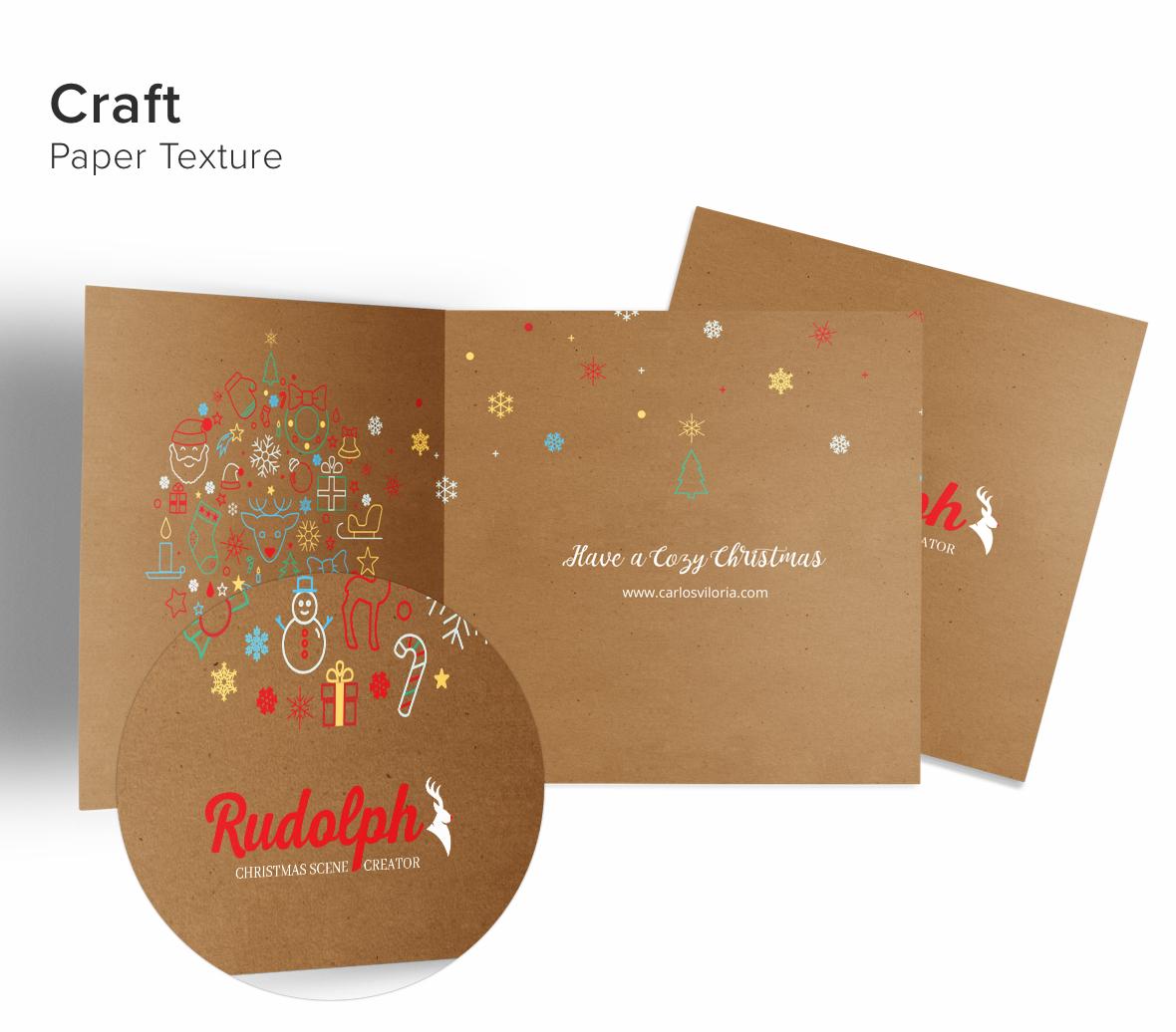 Greeting Card 5x5 Mockup 03-craft
