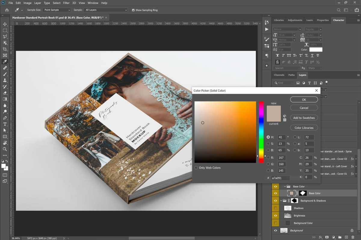 Hardcover Photo Book Mockup