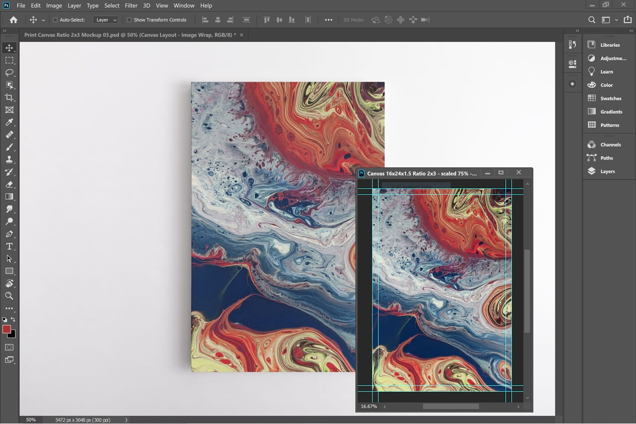 Vertical Frame Canvas Mockup