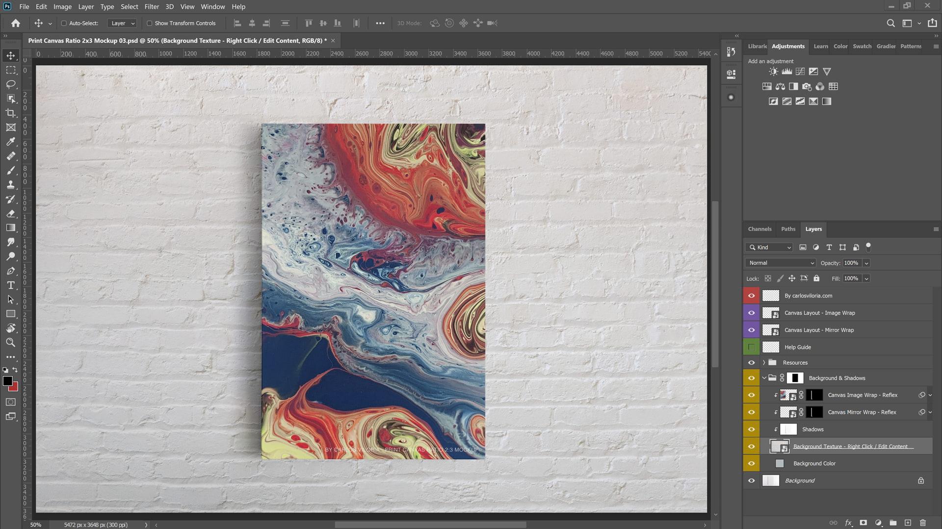 Frame Canvas Mockup