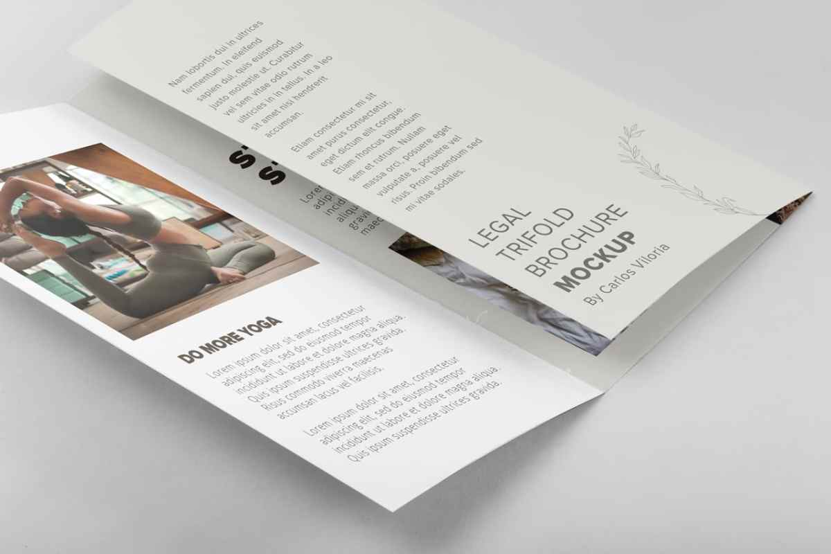 Legal Trifold Brochure Mockup
