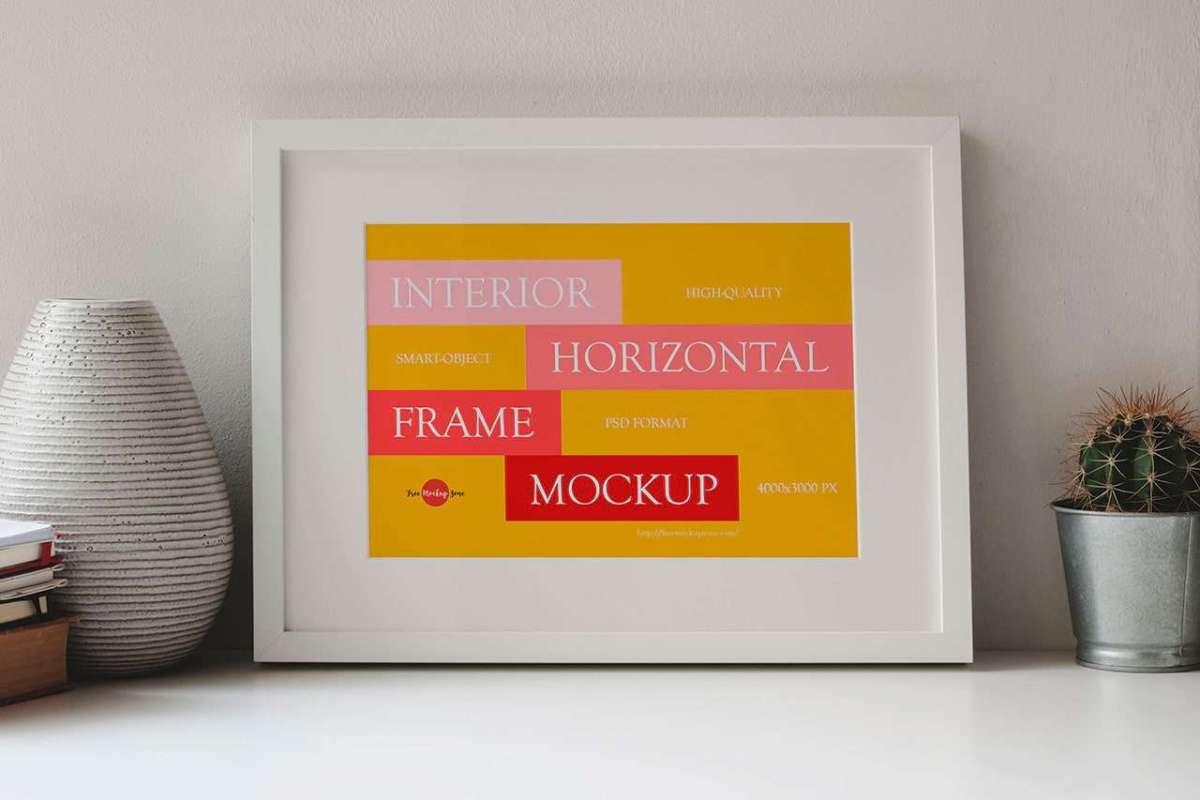 Free Horizontal Frame Mockup