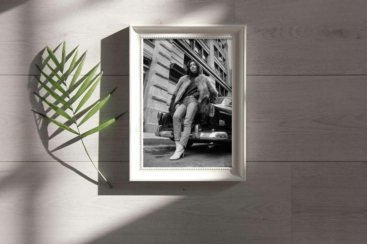 Free White Photo Frame Mockup 01