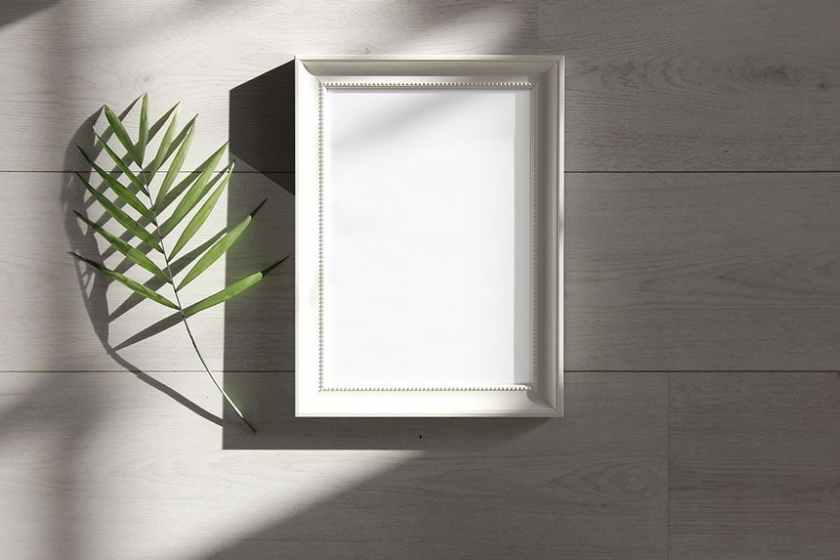 Free White Photo Frame Mockup